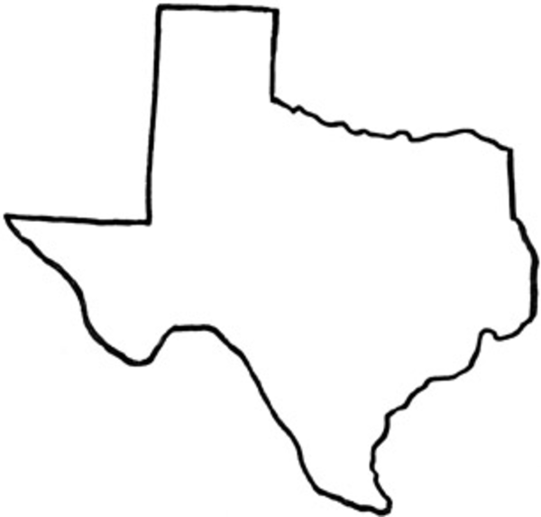 texas texas outline colouring pages