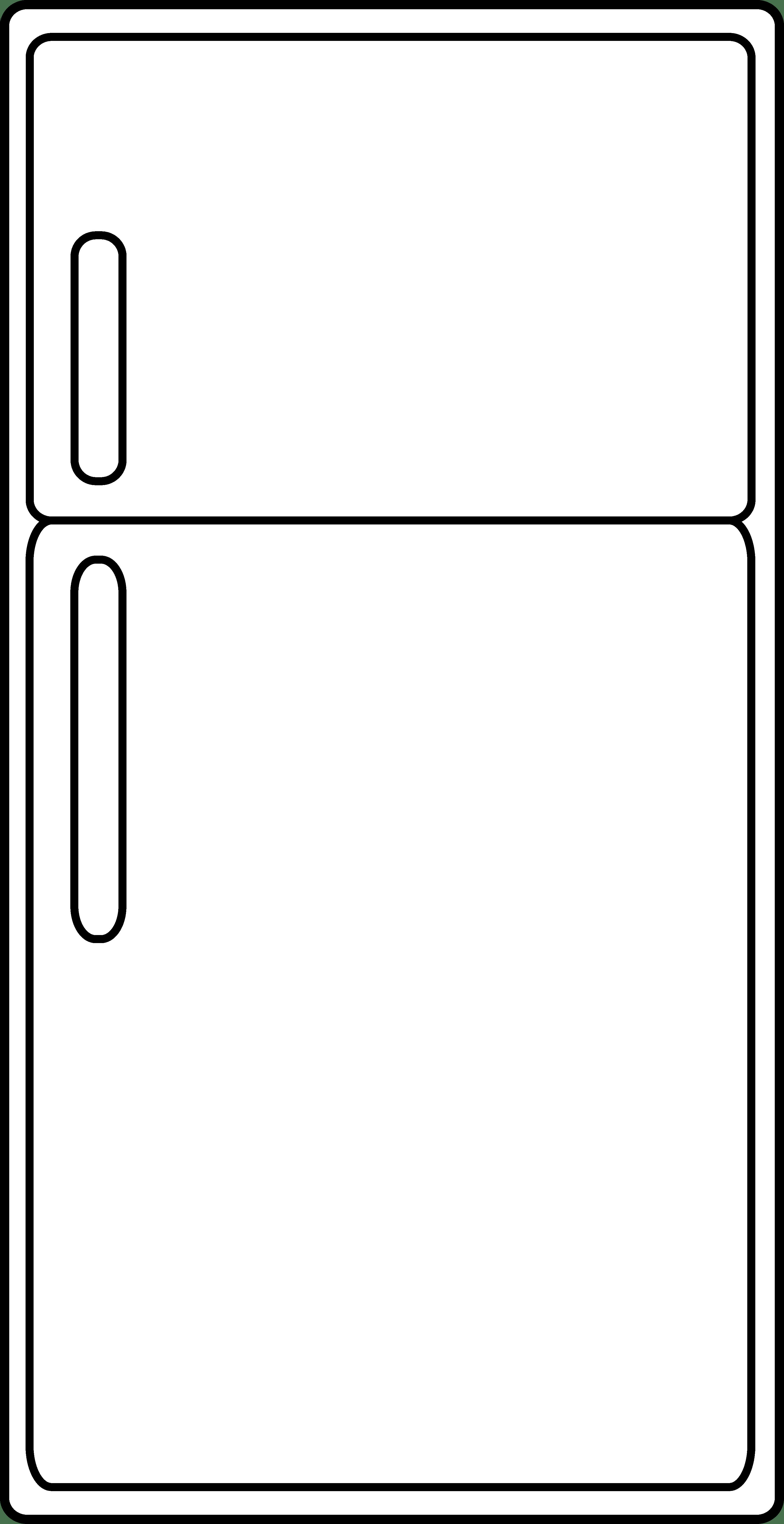 Refrigerator Clipart Refrigerator Outline