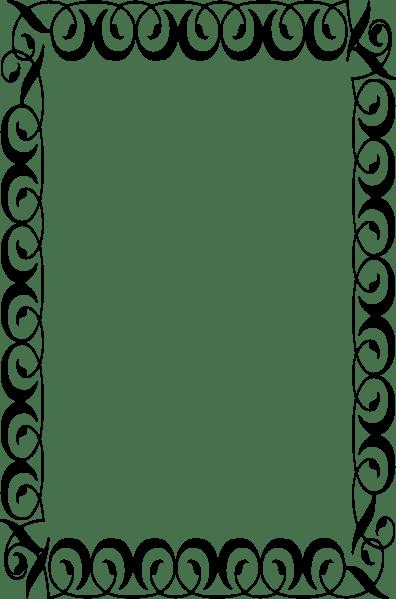 Vine Clip Horizontal Border Art
