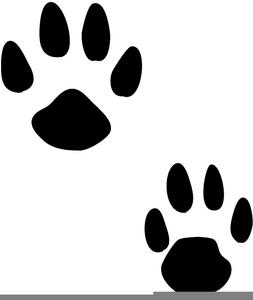 Bunny Pawprint Clipart   Free Images at Clker.com - vector ... (253 x 300 Pixel)