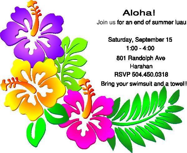 Birthday Invitations Hawaiian Theme Free