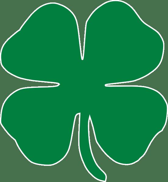 Four Leaf Clover Clip Art At Clker Com Vector Clip Art Online Royalty Free Public Domain