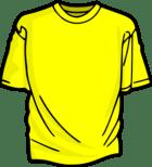 Yellow T-shirt Clip Art