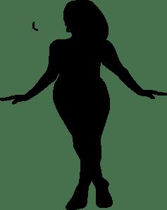Curvy Woman Silhouette Clip Art