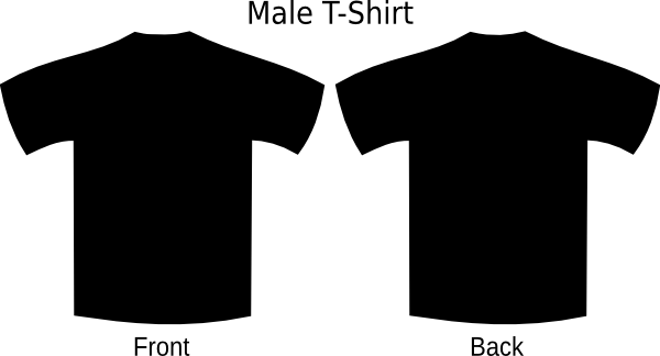 Blue T Shirt Blank Front And Back