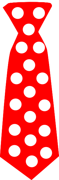 Red Tie With Polka Dots Clip Art At Vector