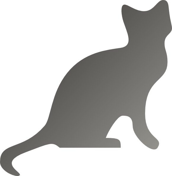 Grey Cat Silhouette Clip Art at Clker.com - vector clip ... (582 x 596 Pixel)