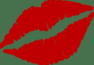 Red Kiss Mark Clip Art