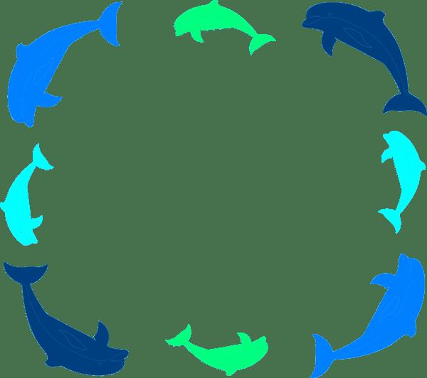 dolphin border clip art at clker com vector clip art online royalty