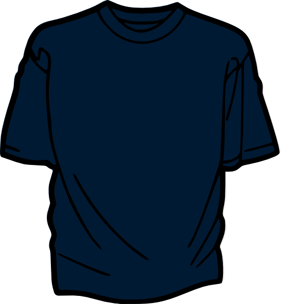T Shirt Template Dark Blue Clip Art at Clker com   vector clip art     Download this image as