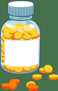 Blank Pill Bottle Clip Art at Clker  vector clip art online, royalty free & public domain