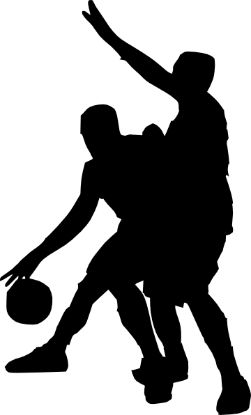 People Shooting Basketball Clip Art