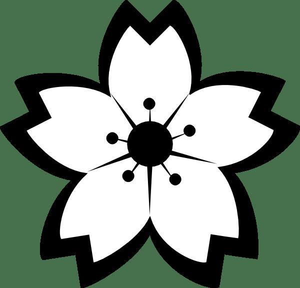 Sakura Black &white Clip Art at Clker.com - vector clip ... (600 x 576 Pixel)