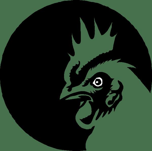 Chicken Profile Black & White Clip Art at Clker.com ... (600 x 598 Pixel)
