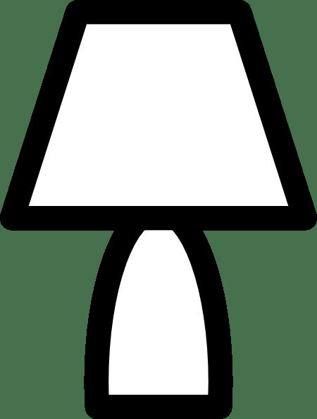 Lamp Outline Clip Art At Clker Com Vector Clip Art