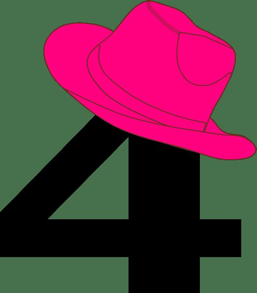 4 Pink Cowgirl Hat Clip Art At Clker Com Vector Clip
