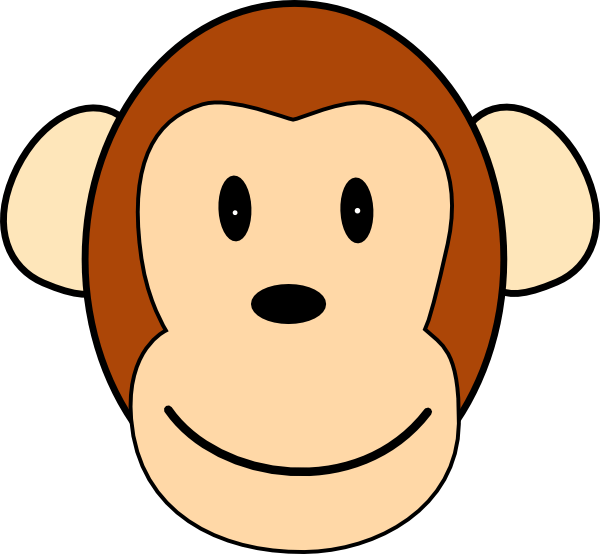 happy face monkey clip art at clker com vector clip art online