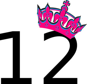 Pink Tilted Tiara And Number 12 Clip Art At Clker Com Vector Clip Art Online Royalty Free Public Domain