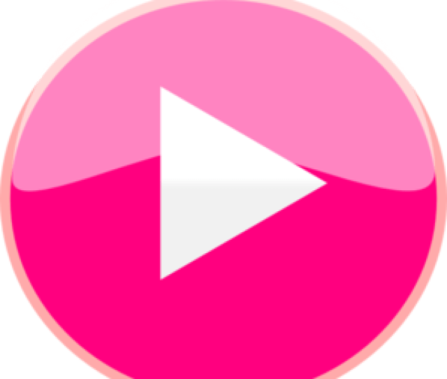 Pink Play Icon Clip Art