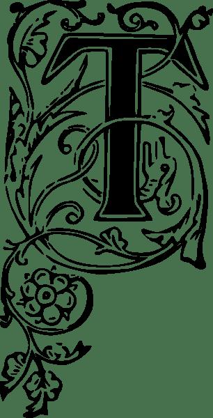 Ornate Letter T Clip Art At Vector Clip Art