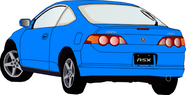 Carro Accura Azul Clip Art At Clker Com Vector Clip Art