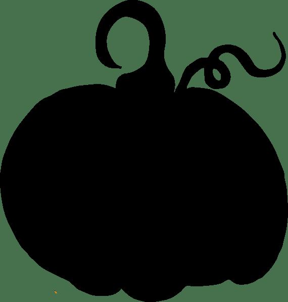 Pumpkin Sihouette Clip Art at Clker.com - vector clip art ... (570 x 597 Pixel)