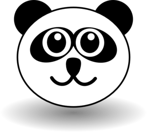 panda face clip art at clker com vector clip art online royalty