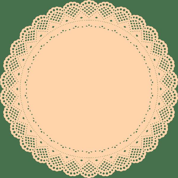 Orange Doily Clip Art At Vector Clip Art