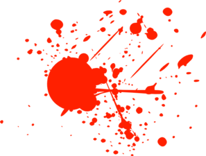 Bright Red Splatter clip art