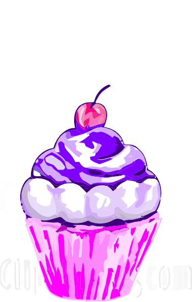 Purple Cupcake Clip Art At Clker Com Vector Clip Art