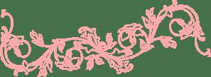 Peach Flower Frame clip art