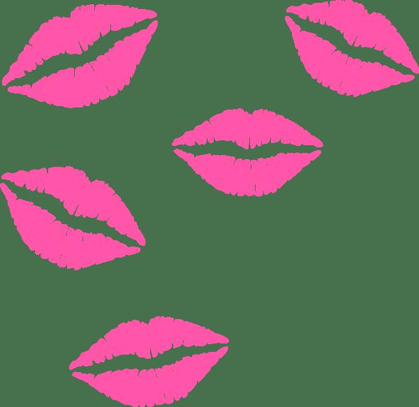 Clip Art Cartoon Pink Lips