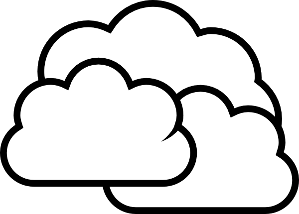 weather cloudy clip art at clker com vector clip art online royalty