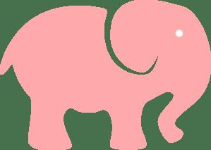 Download Pink Elephant Mom - White Eye Clip Art at Clker.com ...