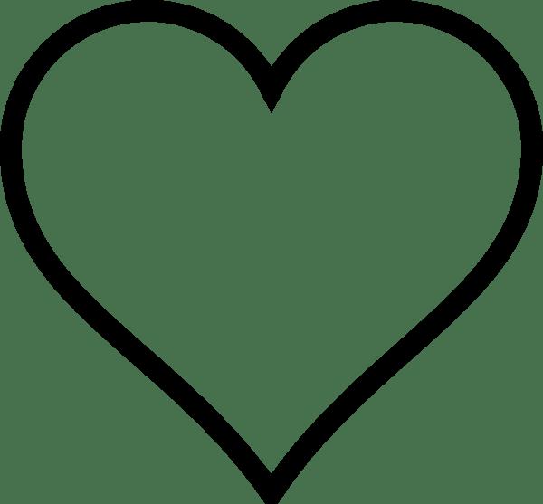 White Heart Clip Art at Clker.com - vector clip art online ... (600 x 557 Pixel)