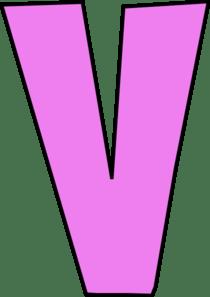 V Pink Letter Clip Art At Clker Com Vector Clip Art