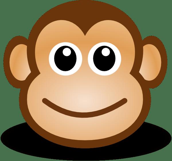 happy monkey face clip art at clker com vector clip art online