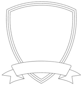 Shield Template Free Images At Clker Com Vector Clip Art