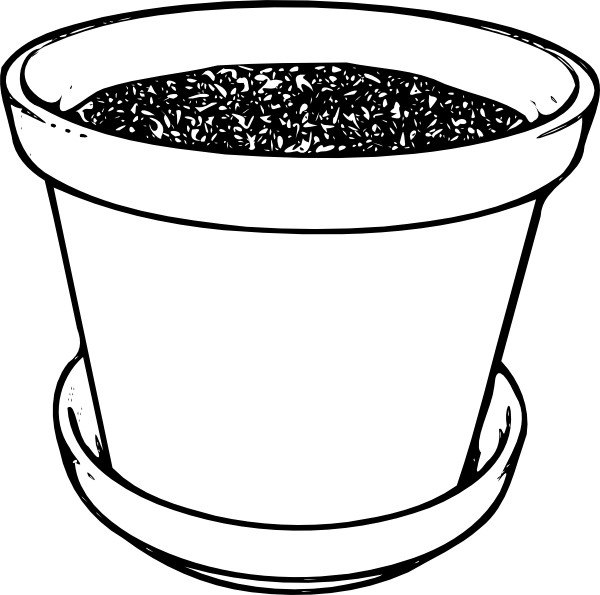 plant pot colouring pages