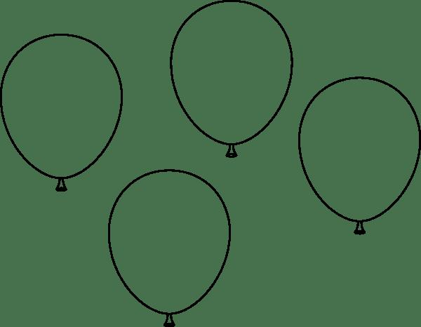 coloring book balloons clip art at clker com vector clip art online
