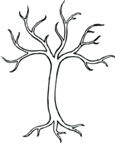 coloring bare tree md free images at clker com vector clip art