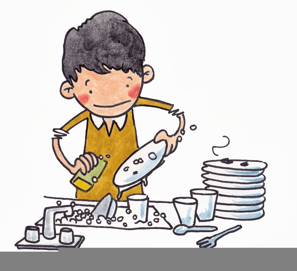 Man Doing Dishes Clipart   Free Images at Clker.com ... (600 x 549 Pixel)
