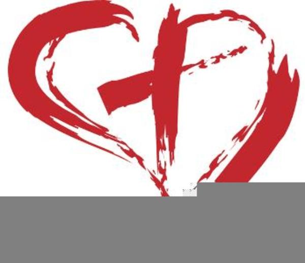 Cross Inside Heart Clipart | Free Images at Clker.com ... (600 x 519 Pixel)