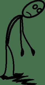 Stickman Tired Clip Art