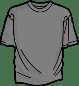 T Shirt Gray Clip Art At Vector Clip Art Online Royalty Free Amp Public Domain