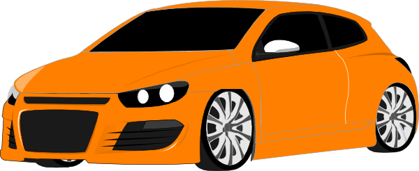 Orange Sports Car Clip Art At Clker Com Vector Clip Art