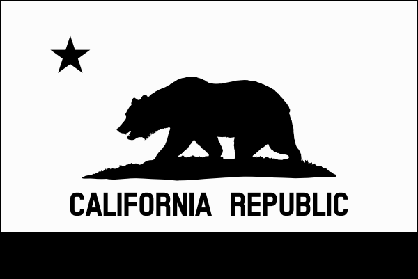 Download Black And White California Flag Clip Art at Clker.com ...