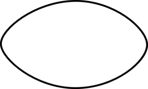 Thin Football Outline Clip Art at Clker.com - vector clip ... (297 x 180 Pixel)