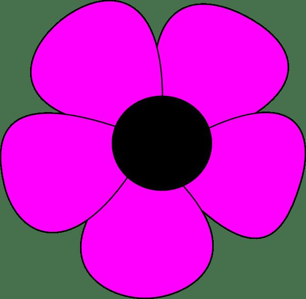 Simple Flower Clip Art At Clker Com Vector Clip Art