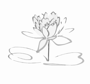 Lotus Logo Black Grayshadow Flower Only Clip Art At Clker